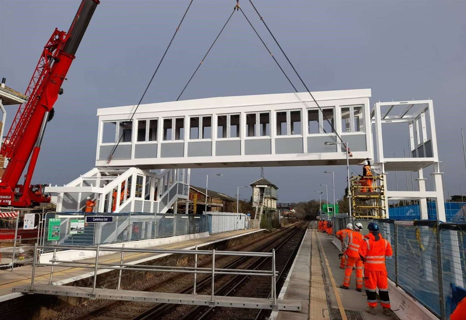 New footbridge installed at train station