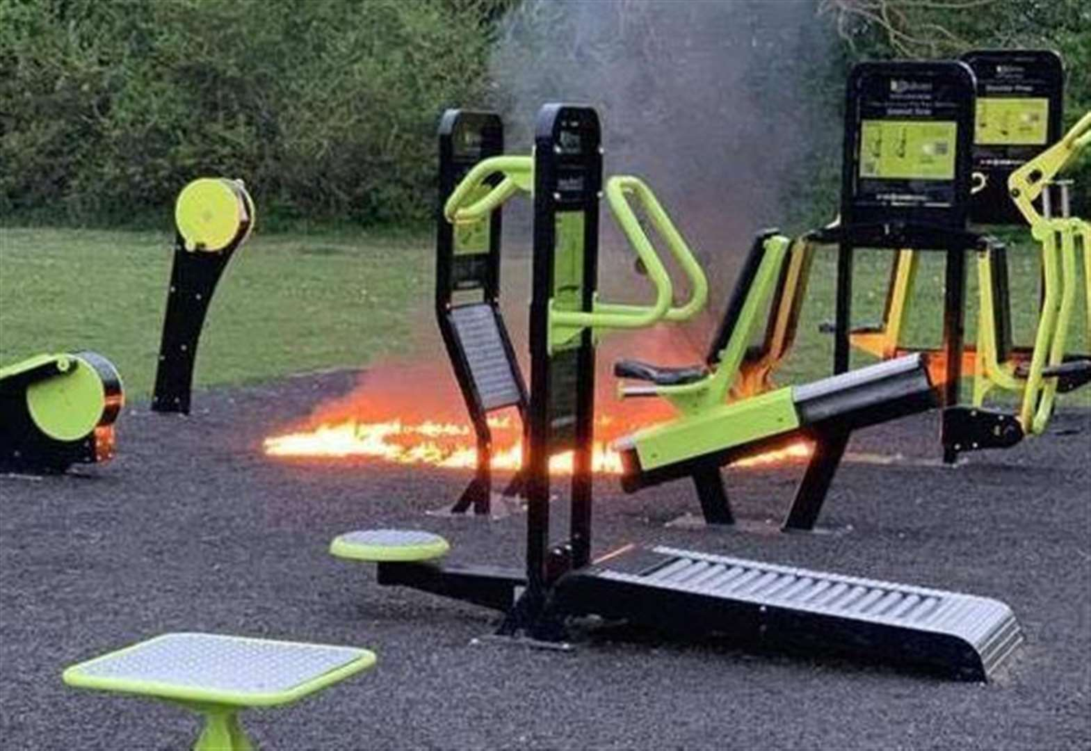'Arsonists set fire to outdoor gym'