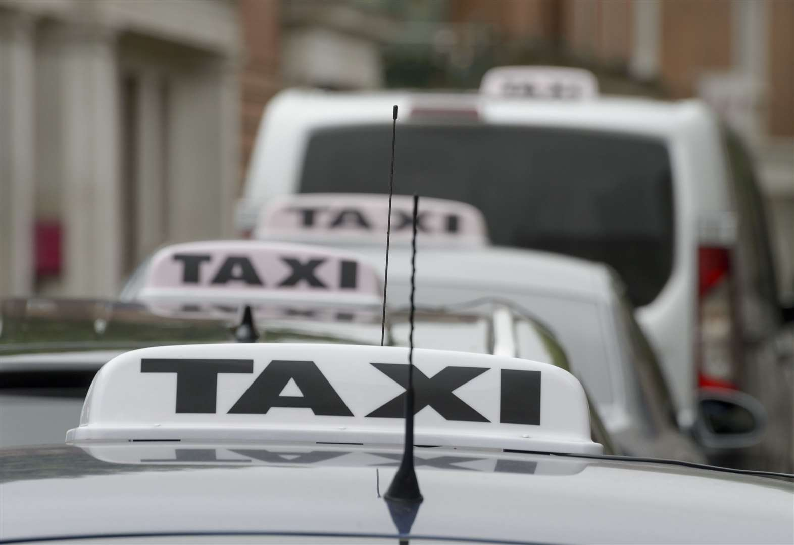 Taxi passenger 'held hostage'