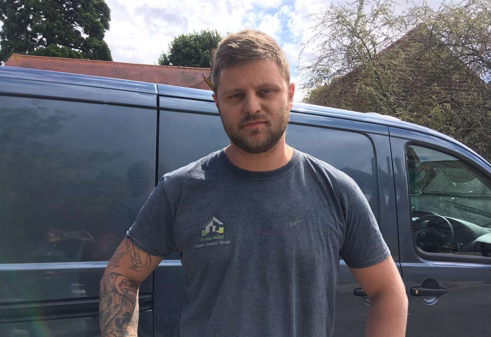 Thieves clear out builder's van