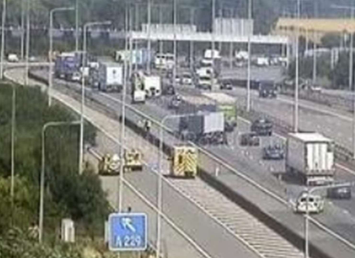 Two separate collisions on the M20