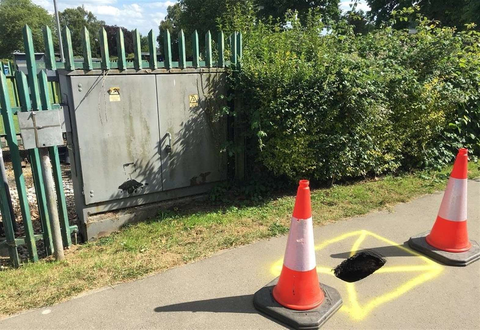 Sinkhole spotted near a primary school