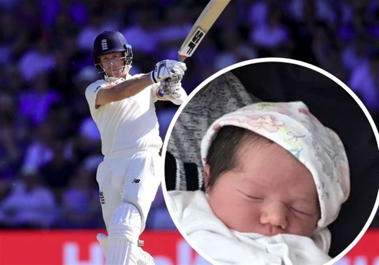 Ashes star Joe Denly welcomes baby daughter