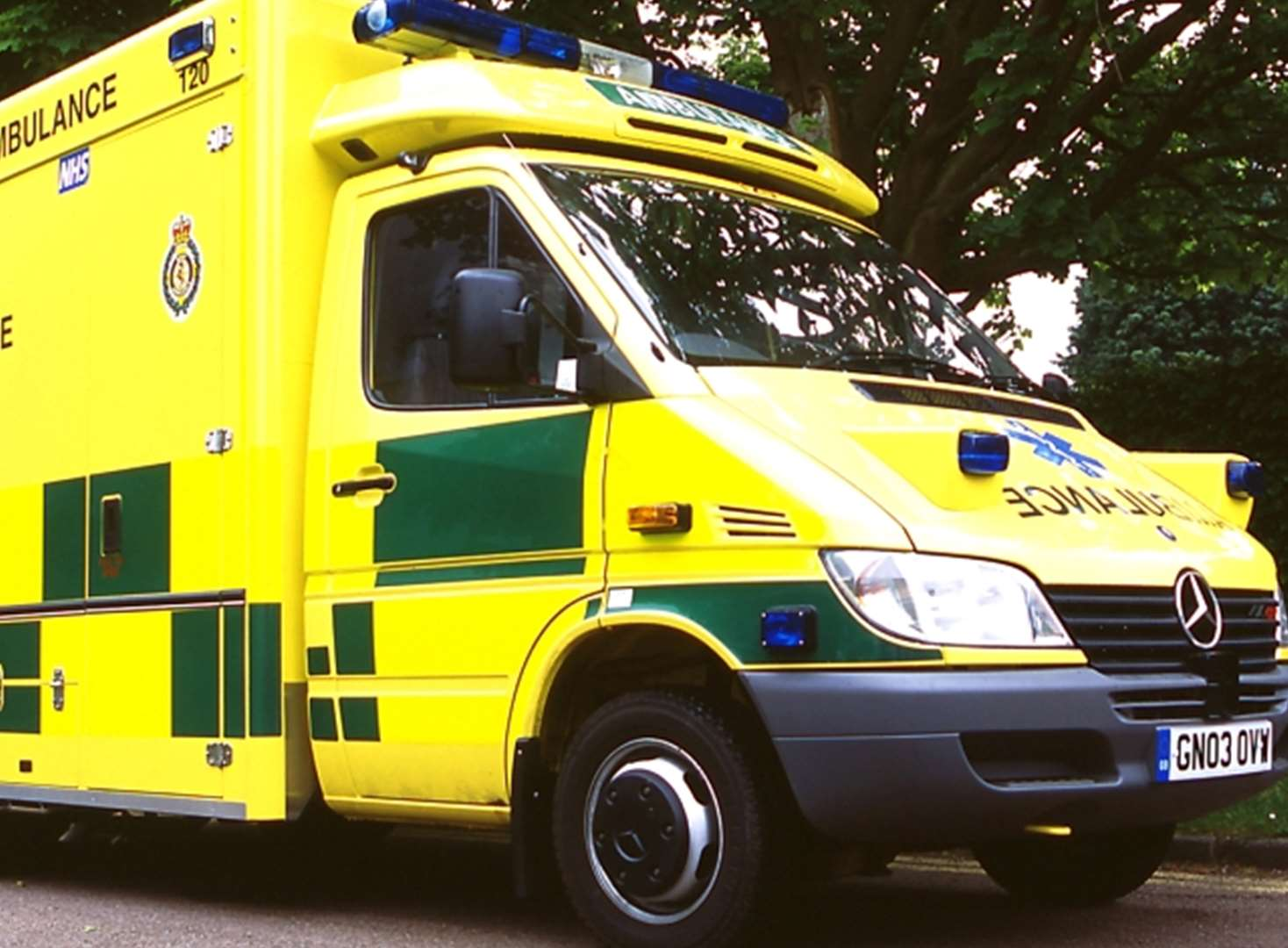 Man injured after car flips into ditch