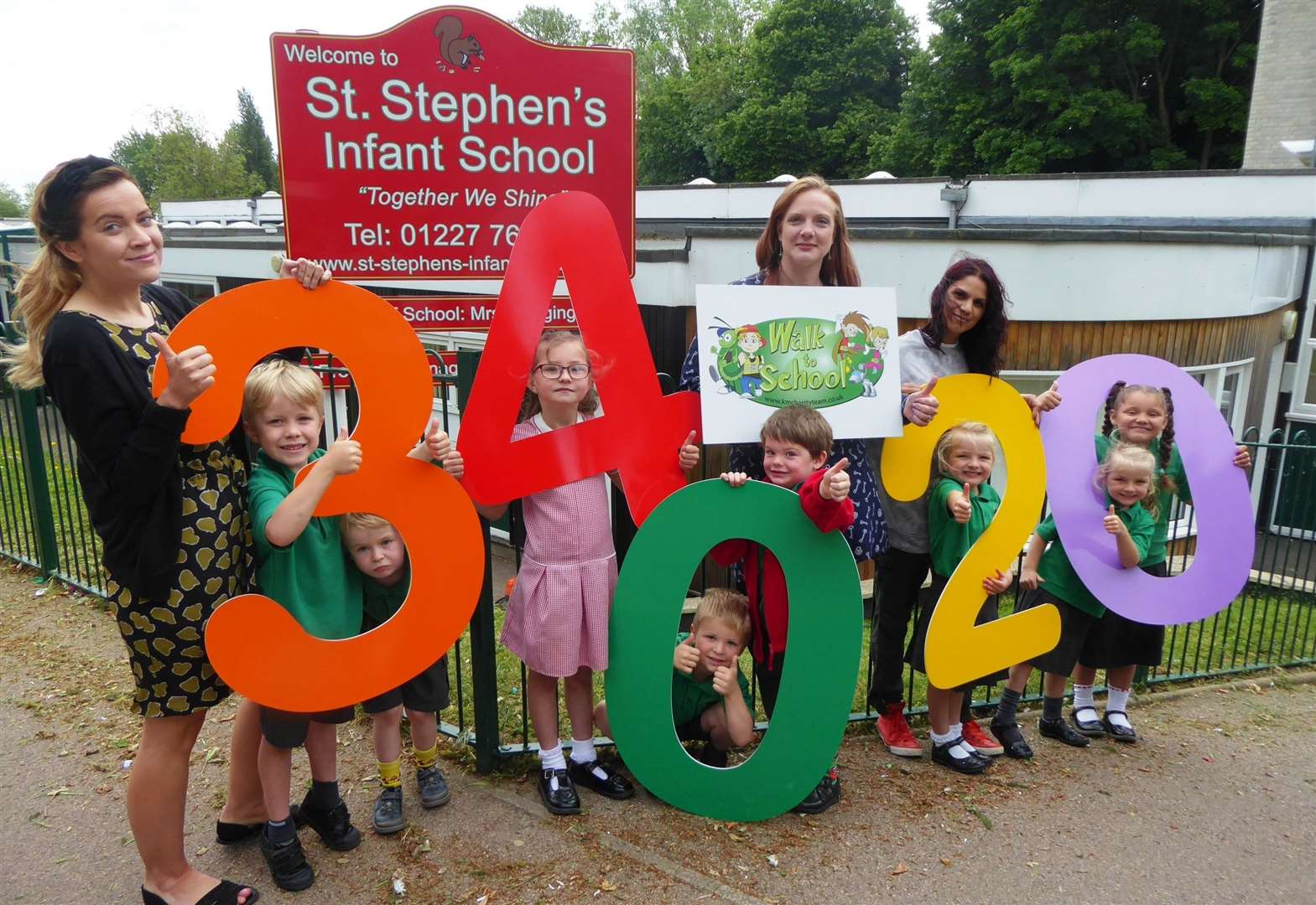 Green light for walk to school campaign