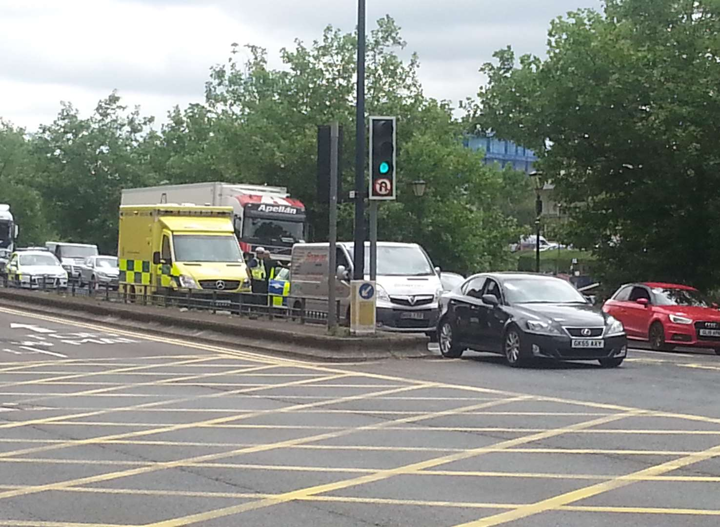 Collision in town centre