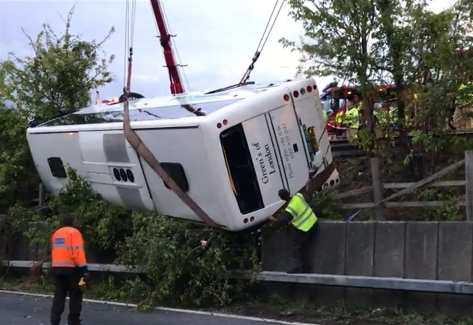 All released from London hospital after coach crash