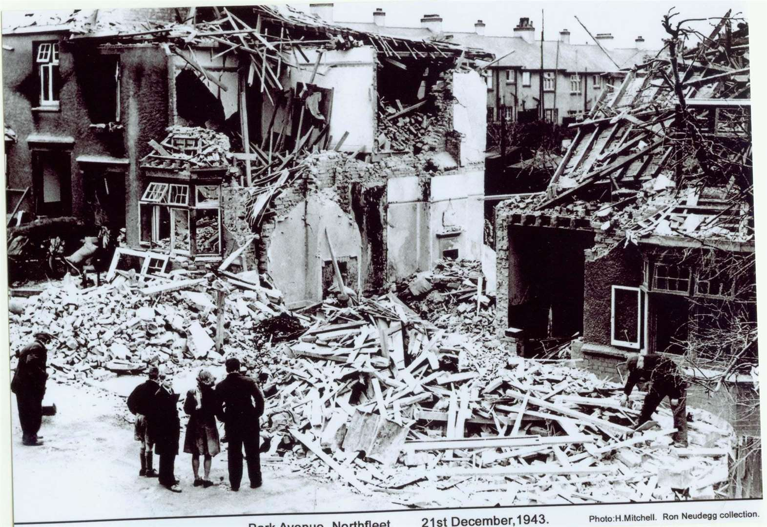 Wartime pictures show air raid devastation
