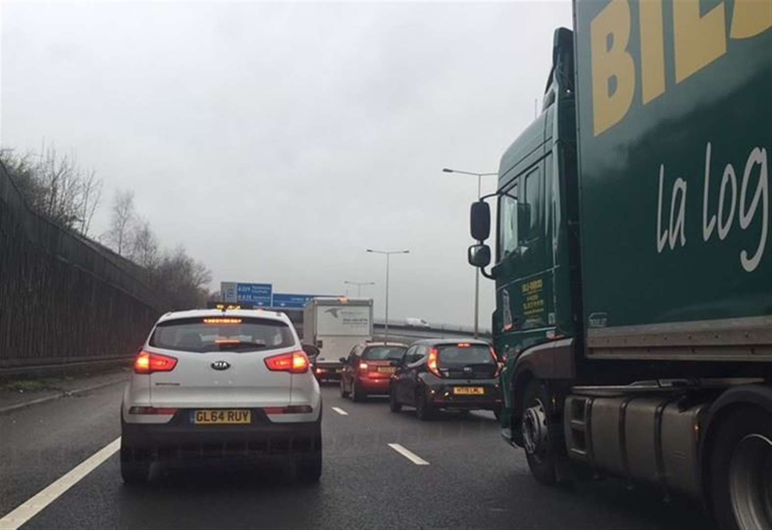 Pile-up causes M20 delays