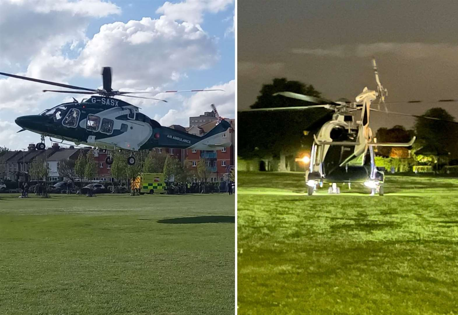 Air ambulance called to town twice in one day