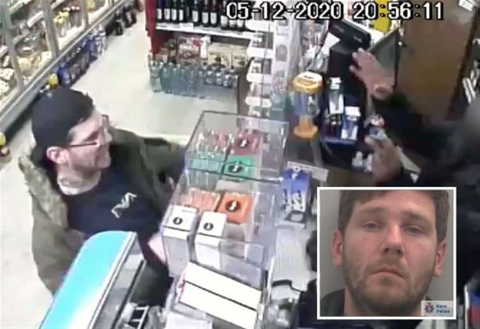 Shopper's appalling outburst caught on camera