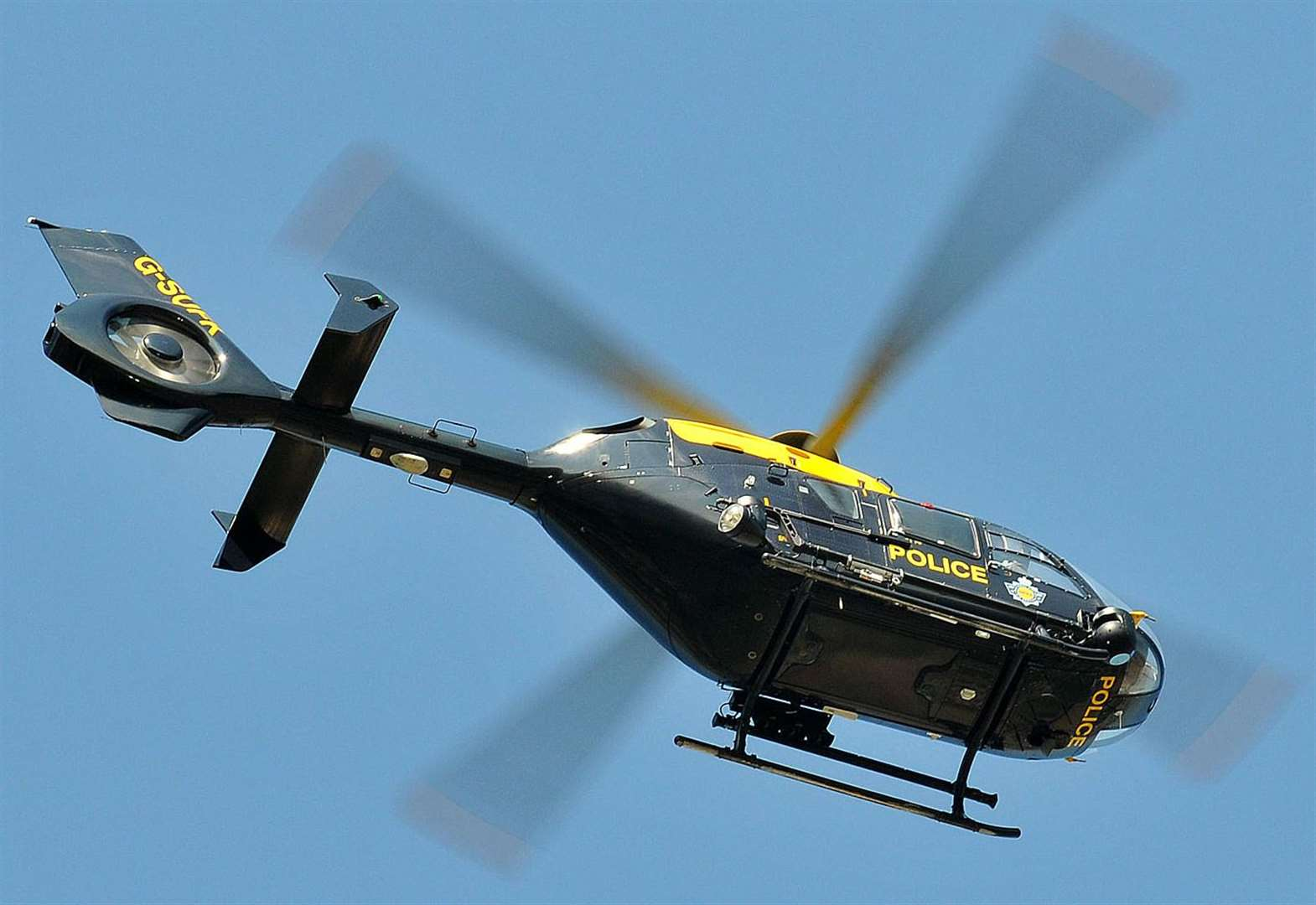 Police helicopter searched for suspects after lorry theft