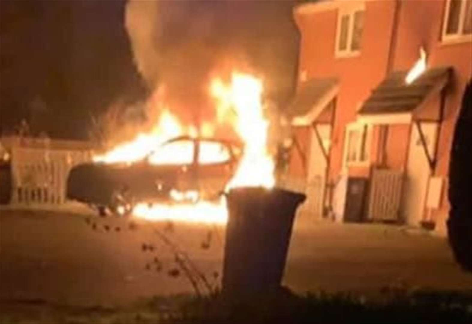 Boy, 5, traumatised as fireball erupts outside home