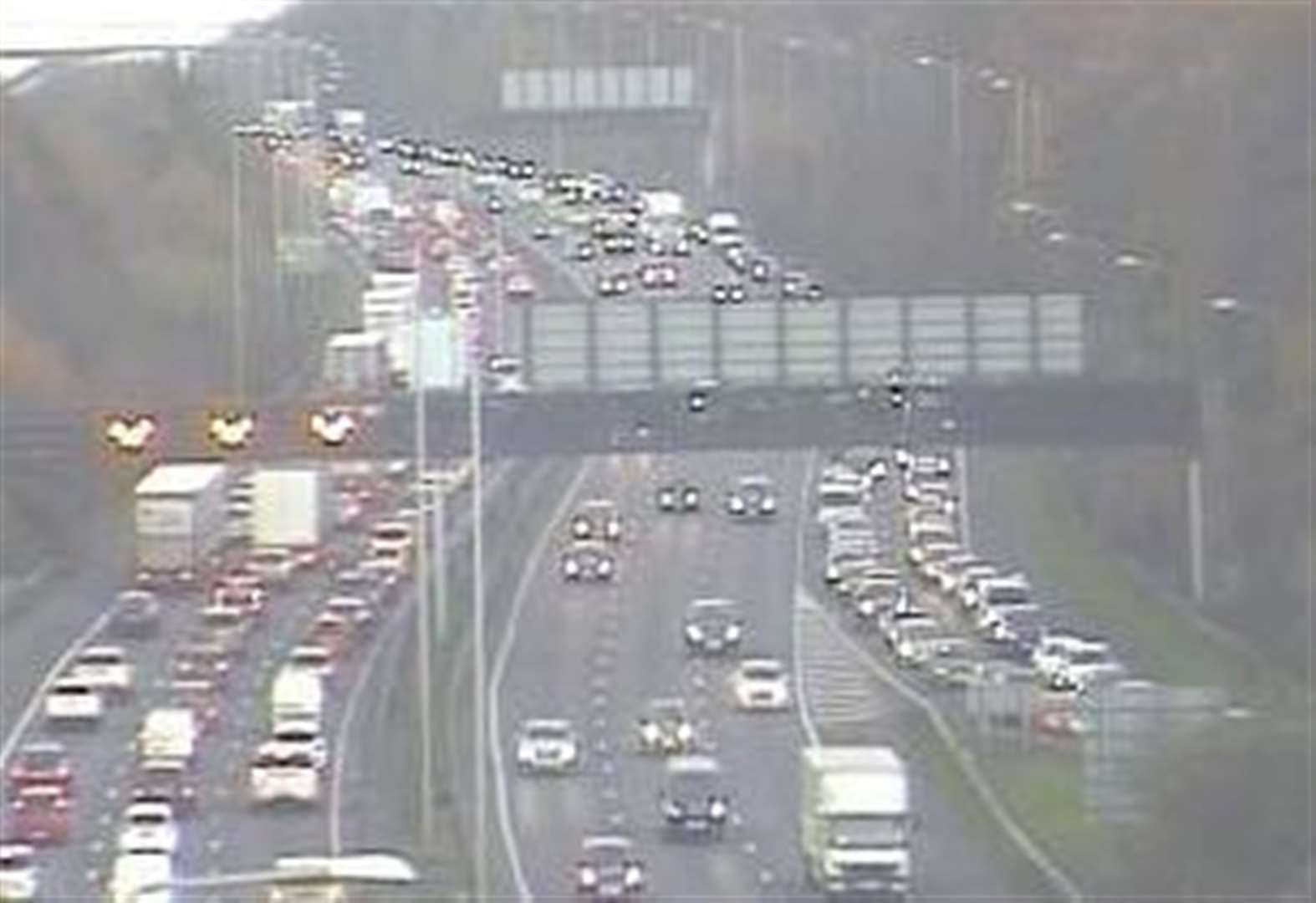 Delays clear after A2 pile-up