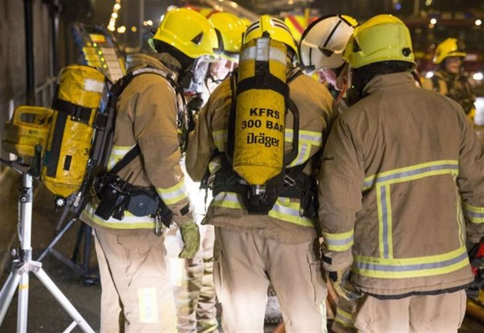 Man in hospital after flat fire
