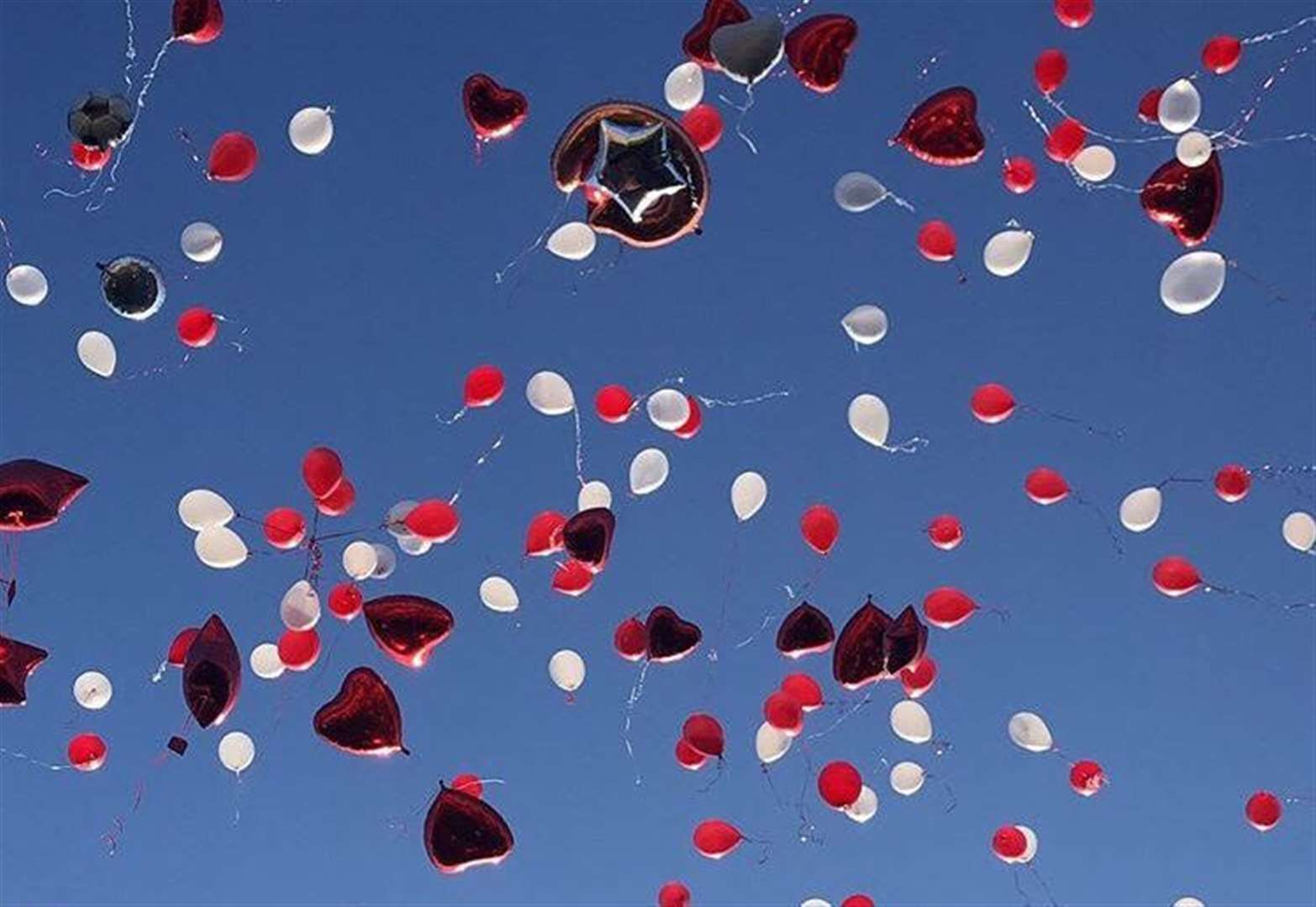 Balloons released in memory of teenager