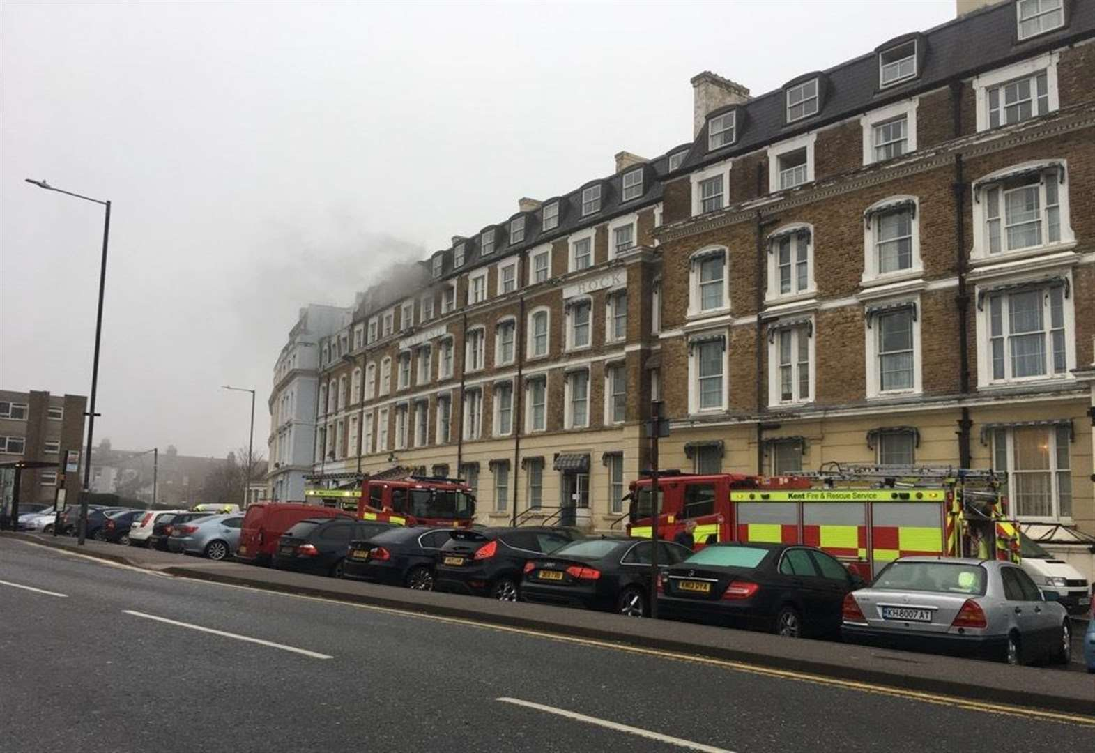 Fire at five-storey hotel