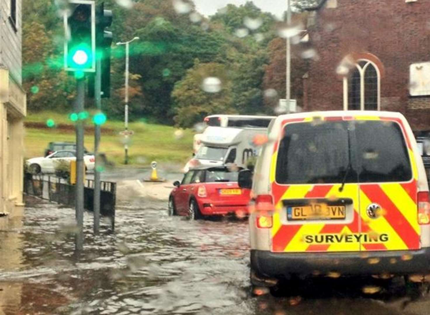 Driving conditions affected as rain lashes Kent
