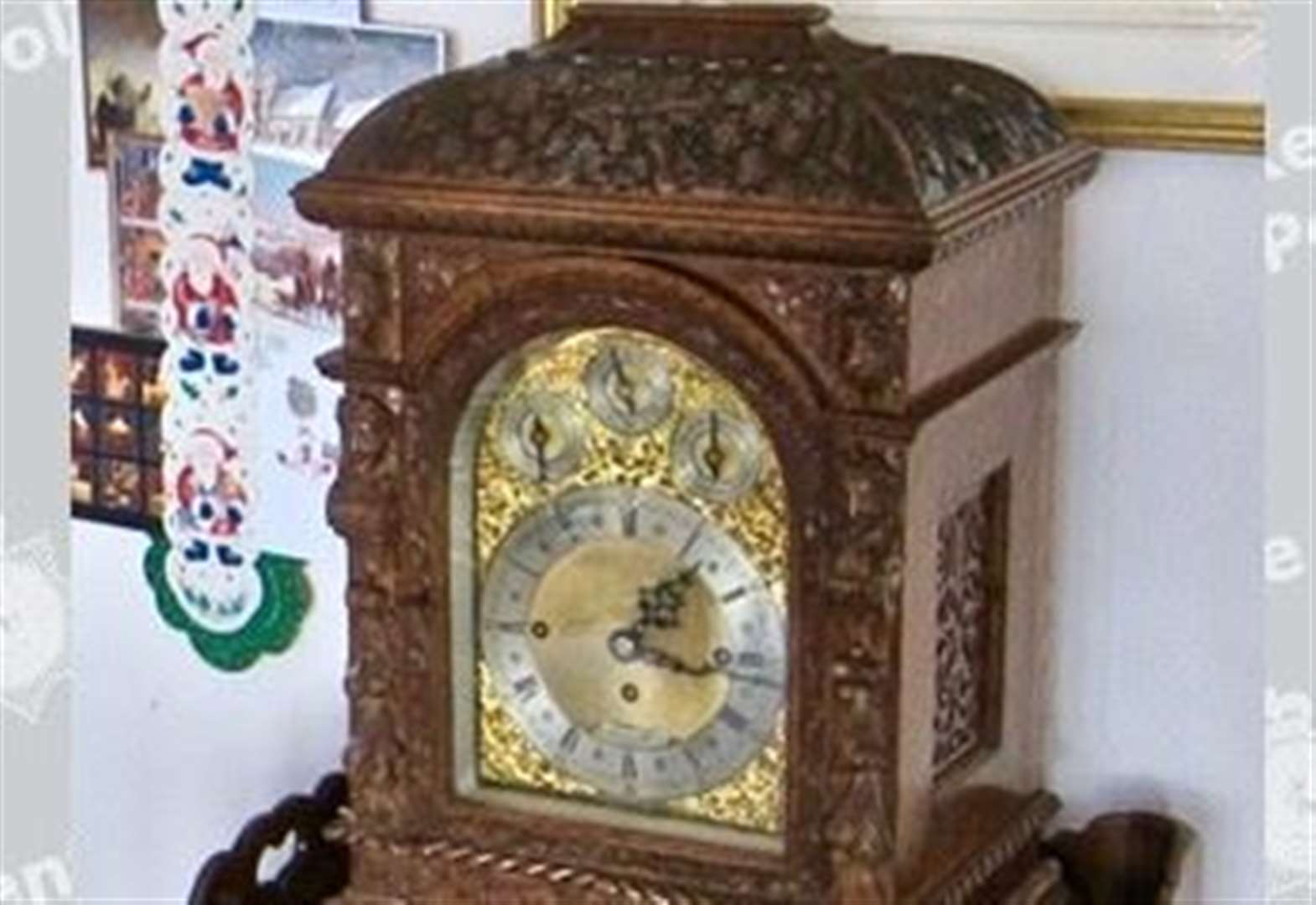 "Pensioner left ""numb"" by antique clock theft offers £1,000 reward"