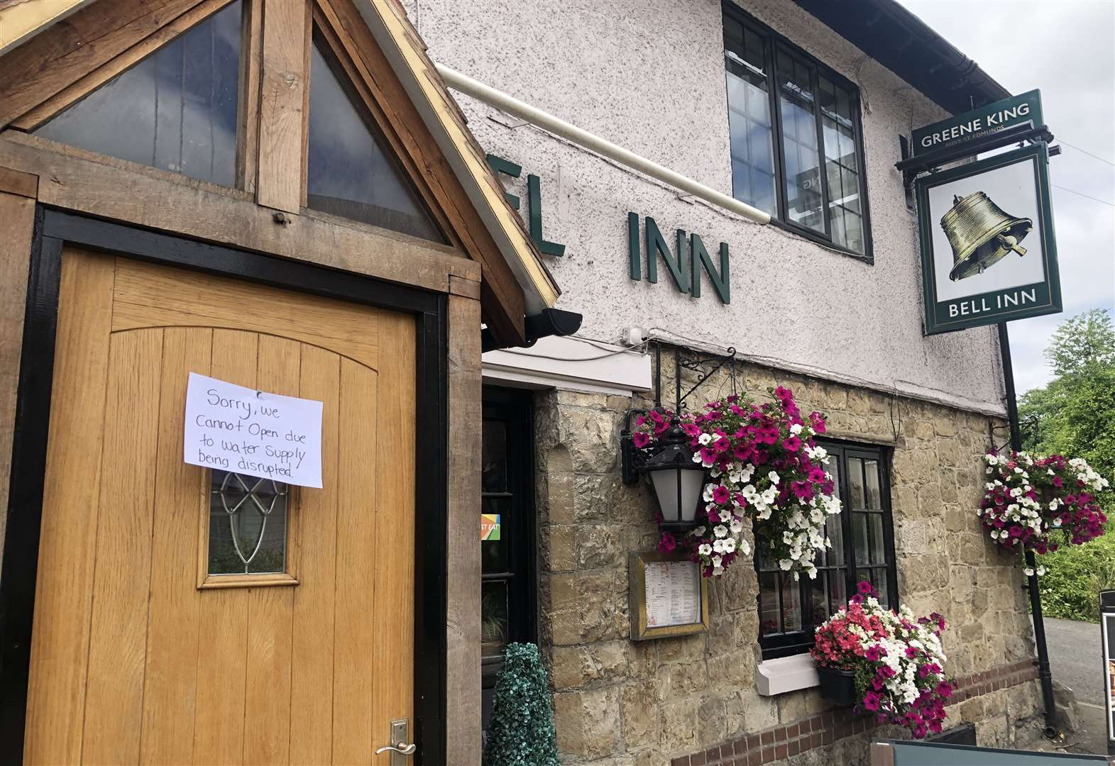 Pub forced to close due to burst pipe
