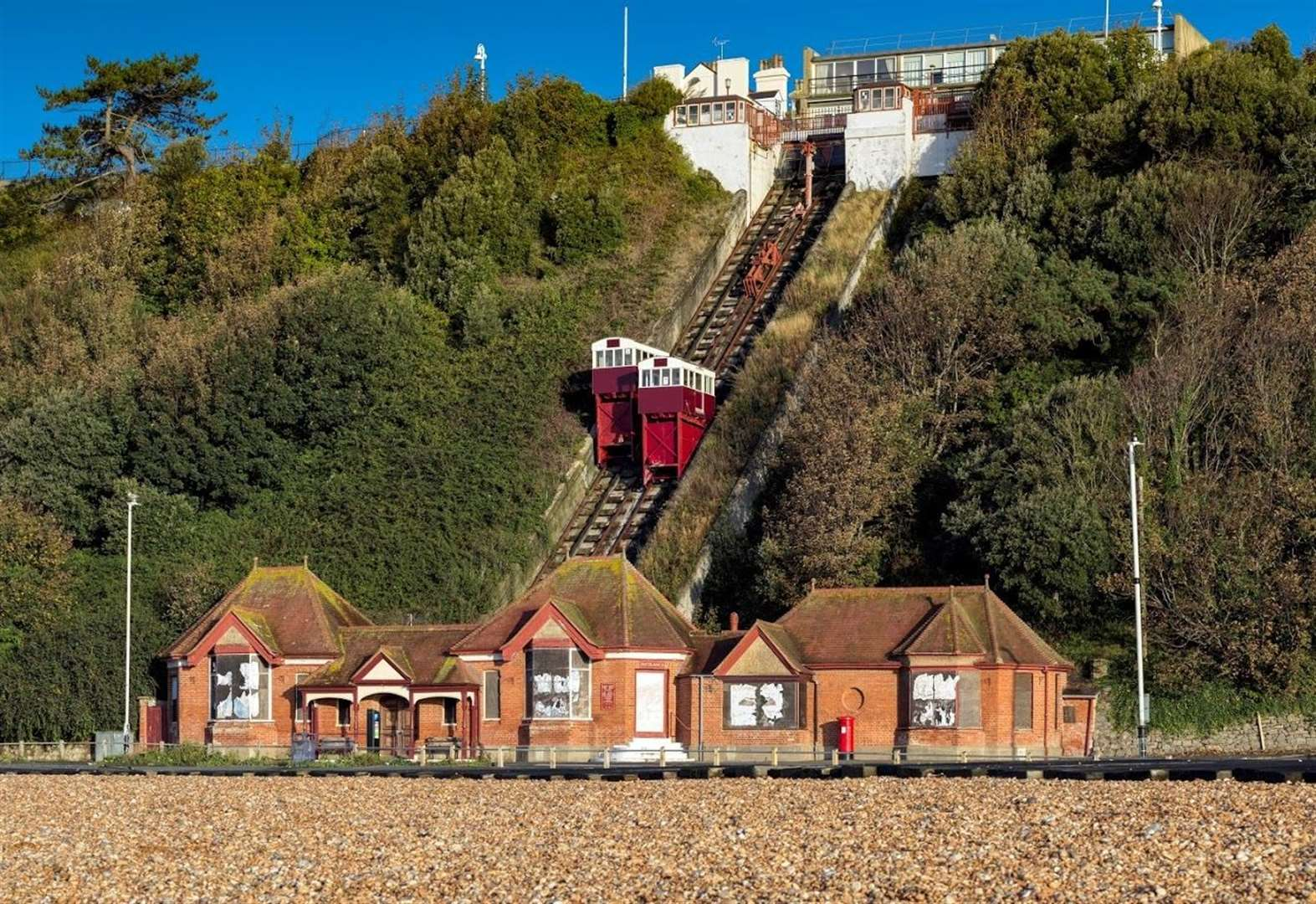 Cliff lift and clock tower 'at risk'