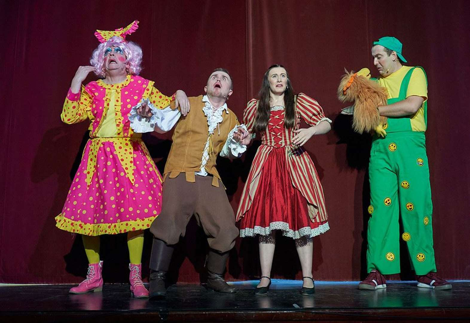 Town's first pro panto is a giant success