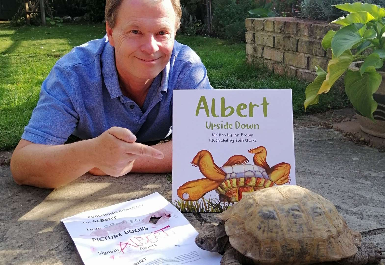 Famous names back children's book about tortoise