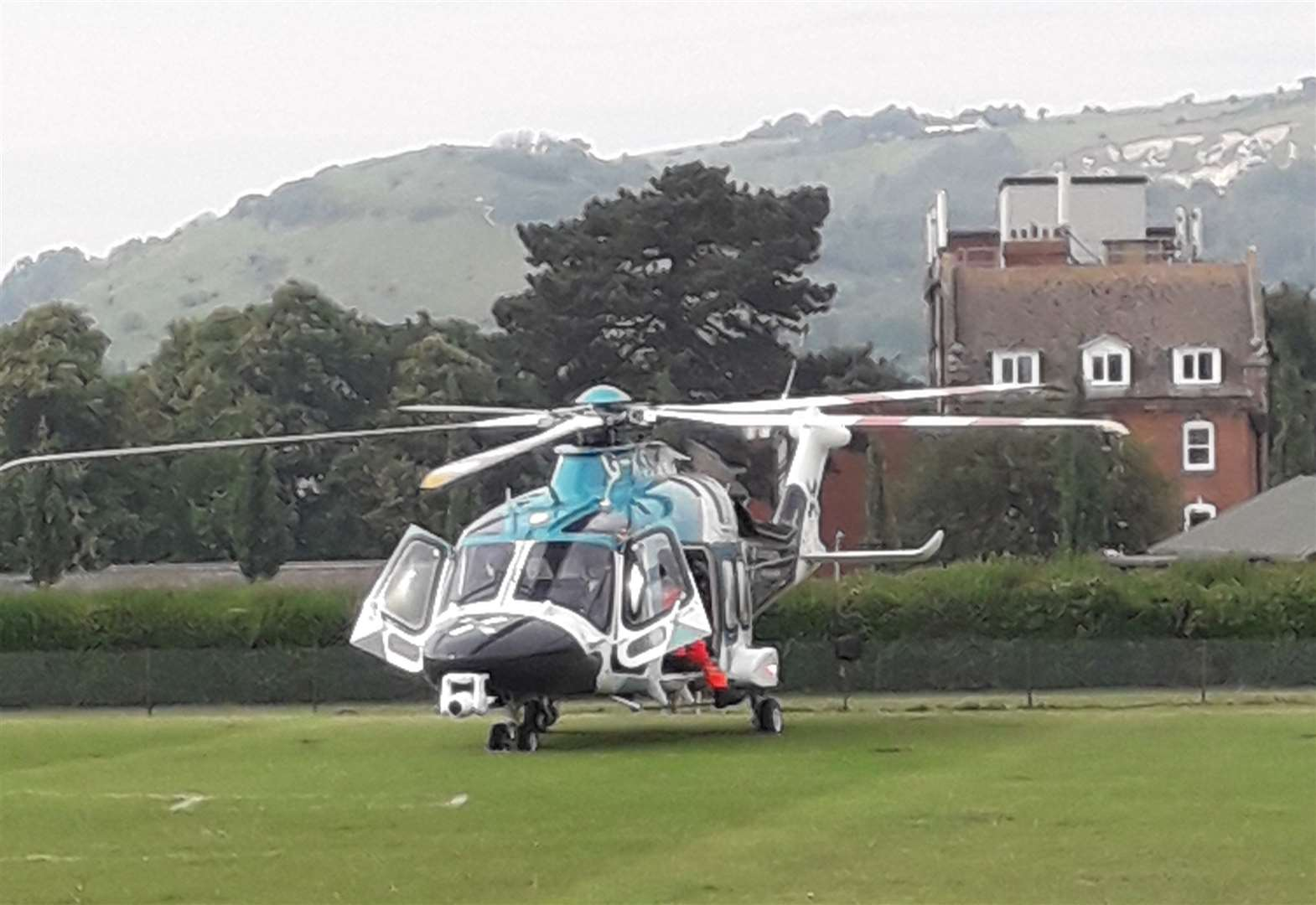 Air ambulance called after patient collapses