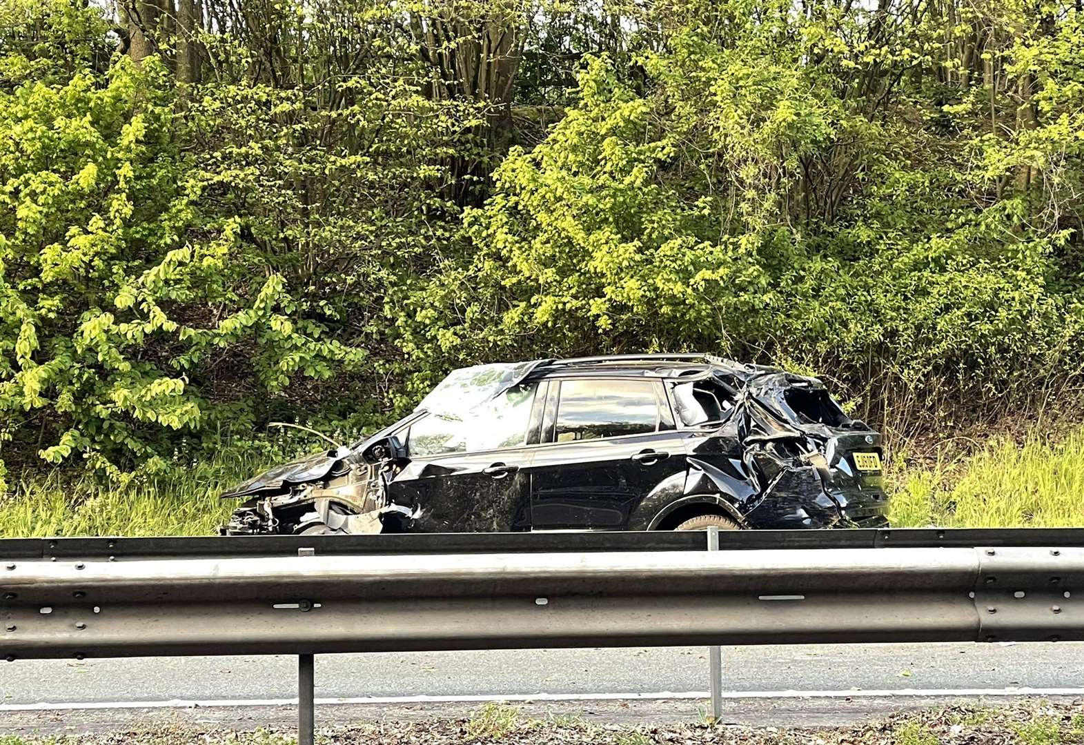 Traffic held on M2 after crash