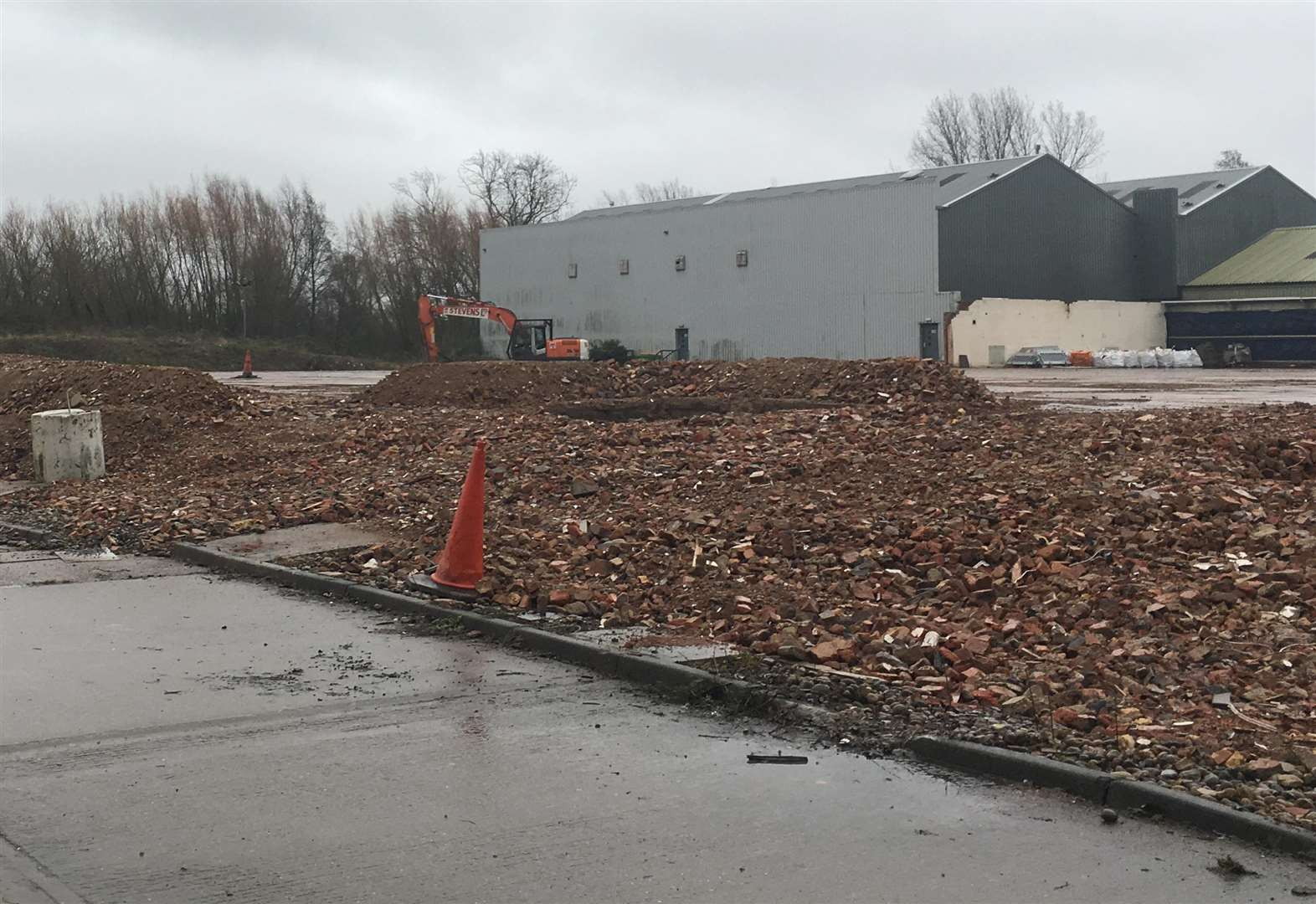 Historic print firm reduced to rubble