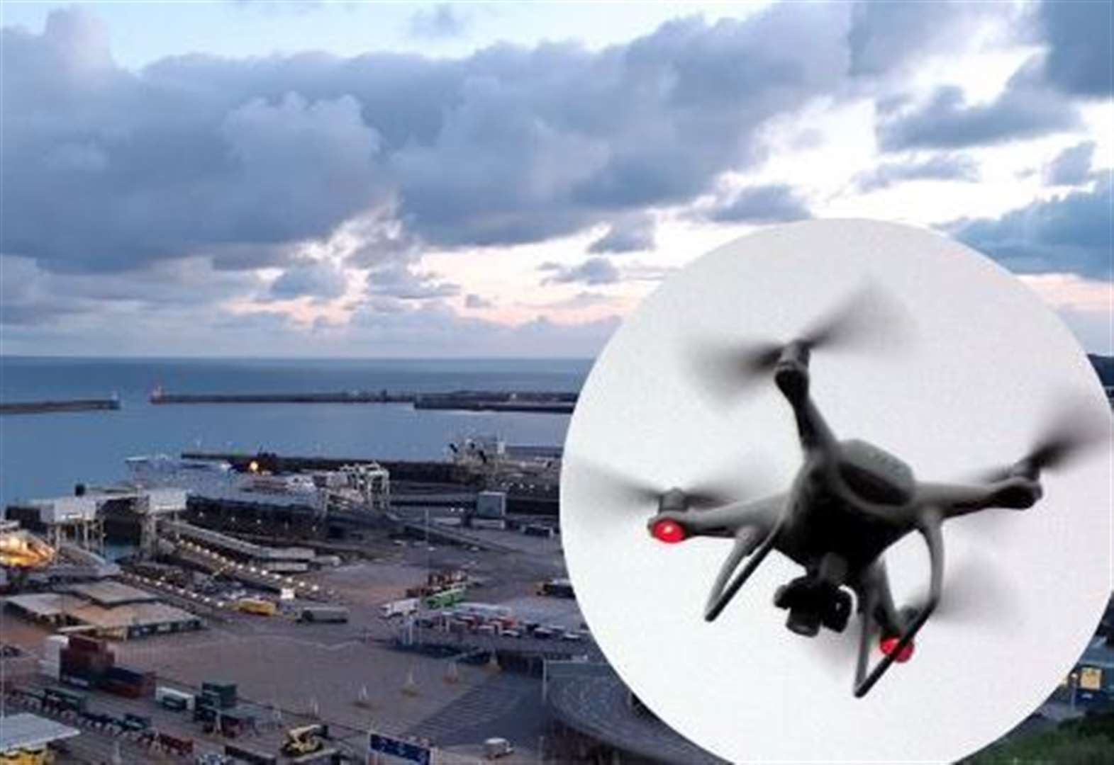Drones banned from flying near port