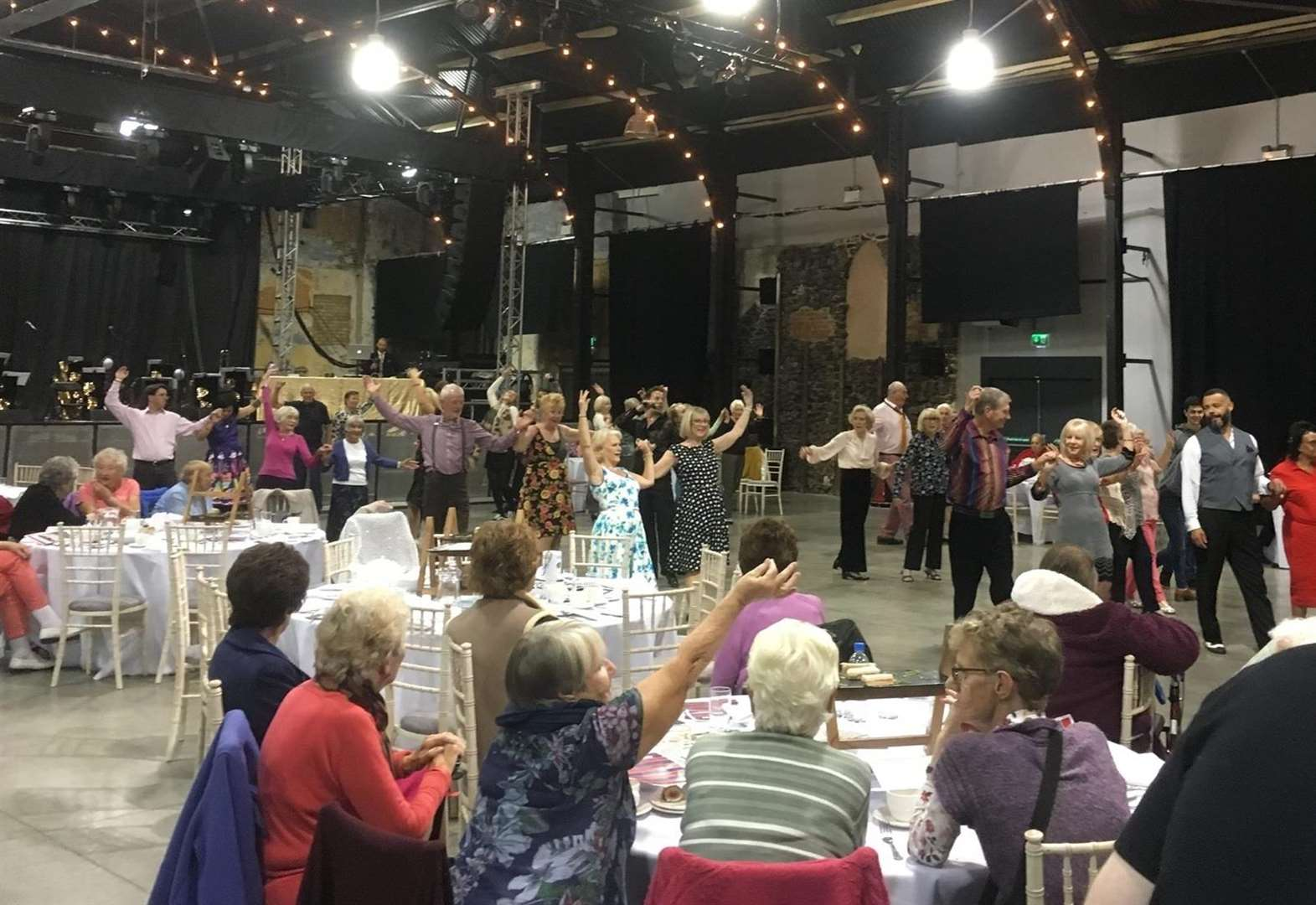 Pensioners tear up the dance floor
