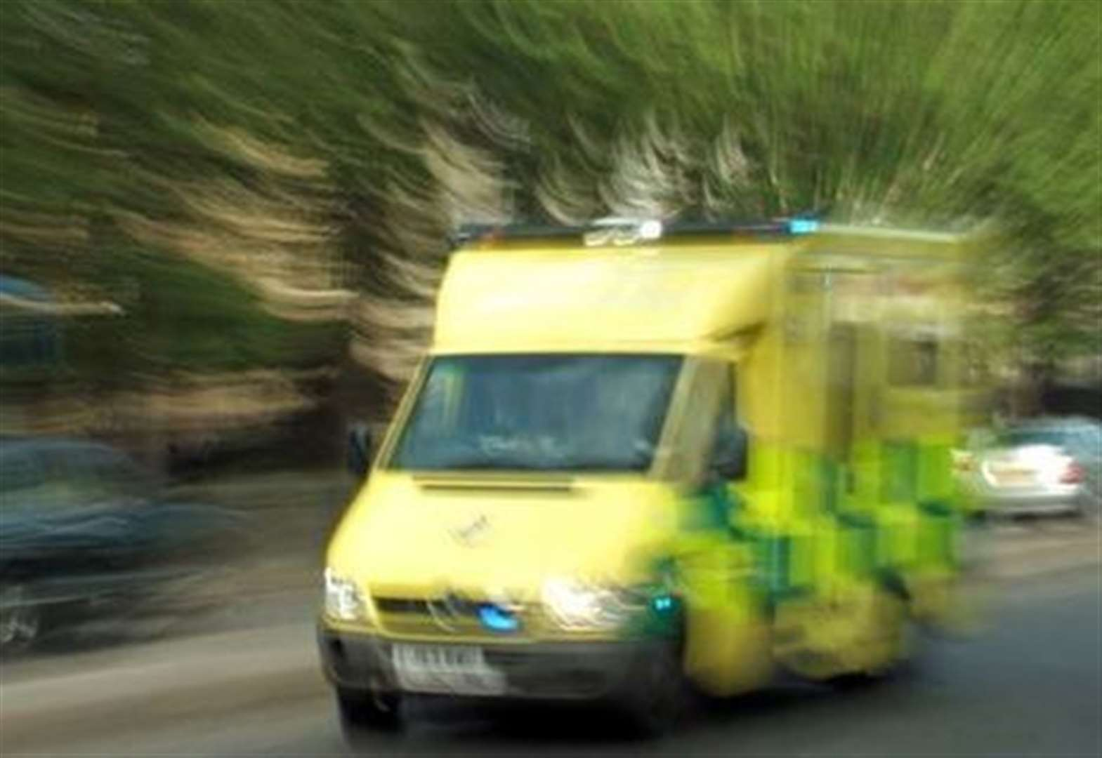 Crash puts motorcyclist in hospital