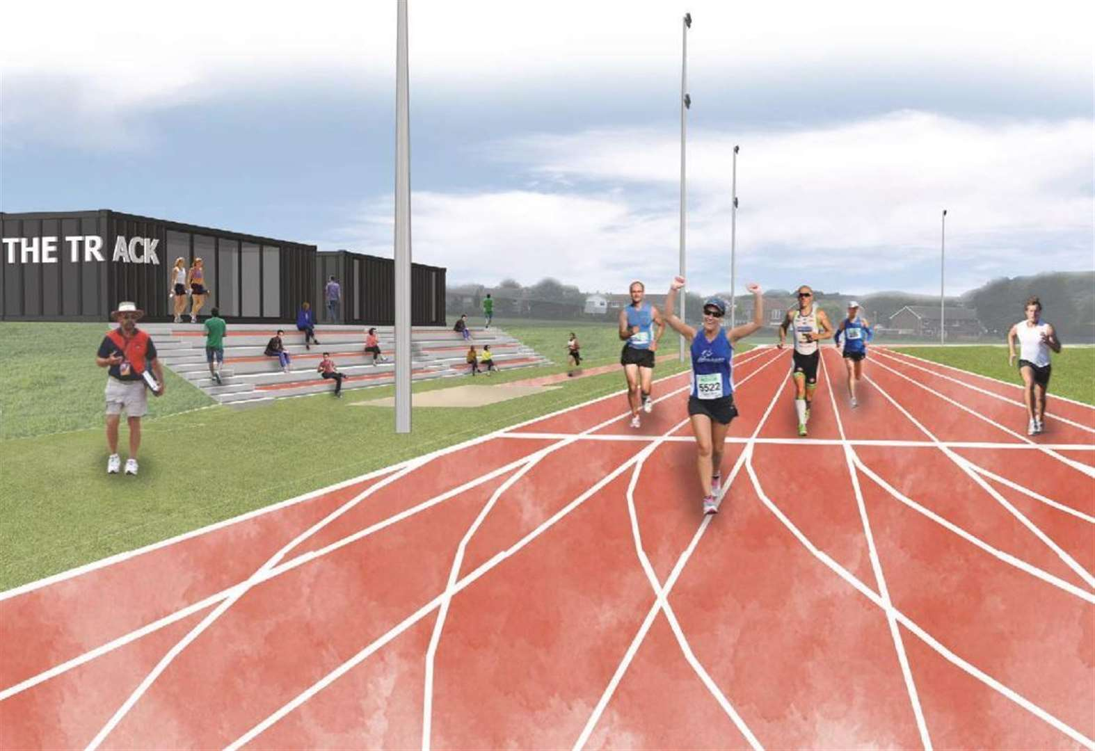 'Fantastic' new running track approved