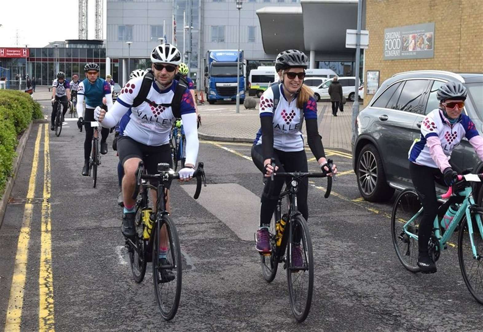 Cyclists begin fundraising trek to Amsterdam