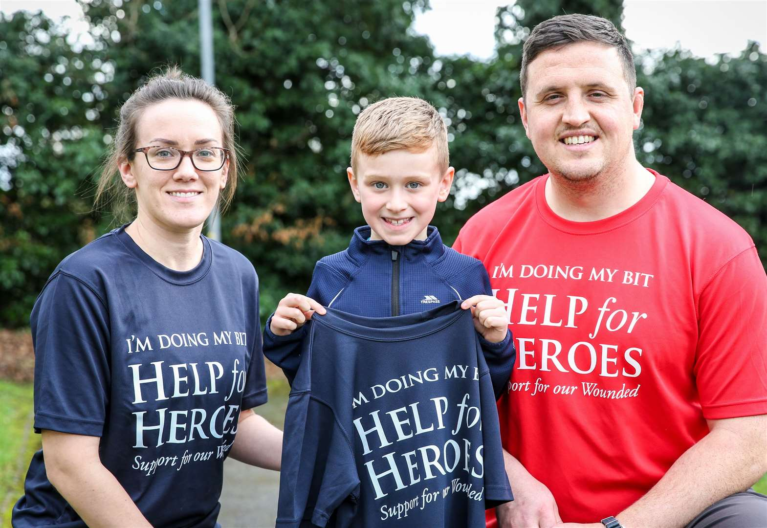 Boy's mission to help 'broken soldiers'