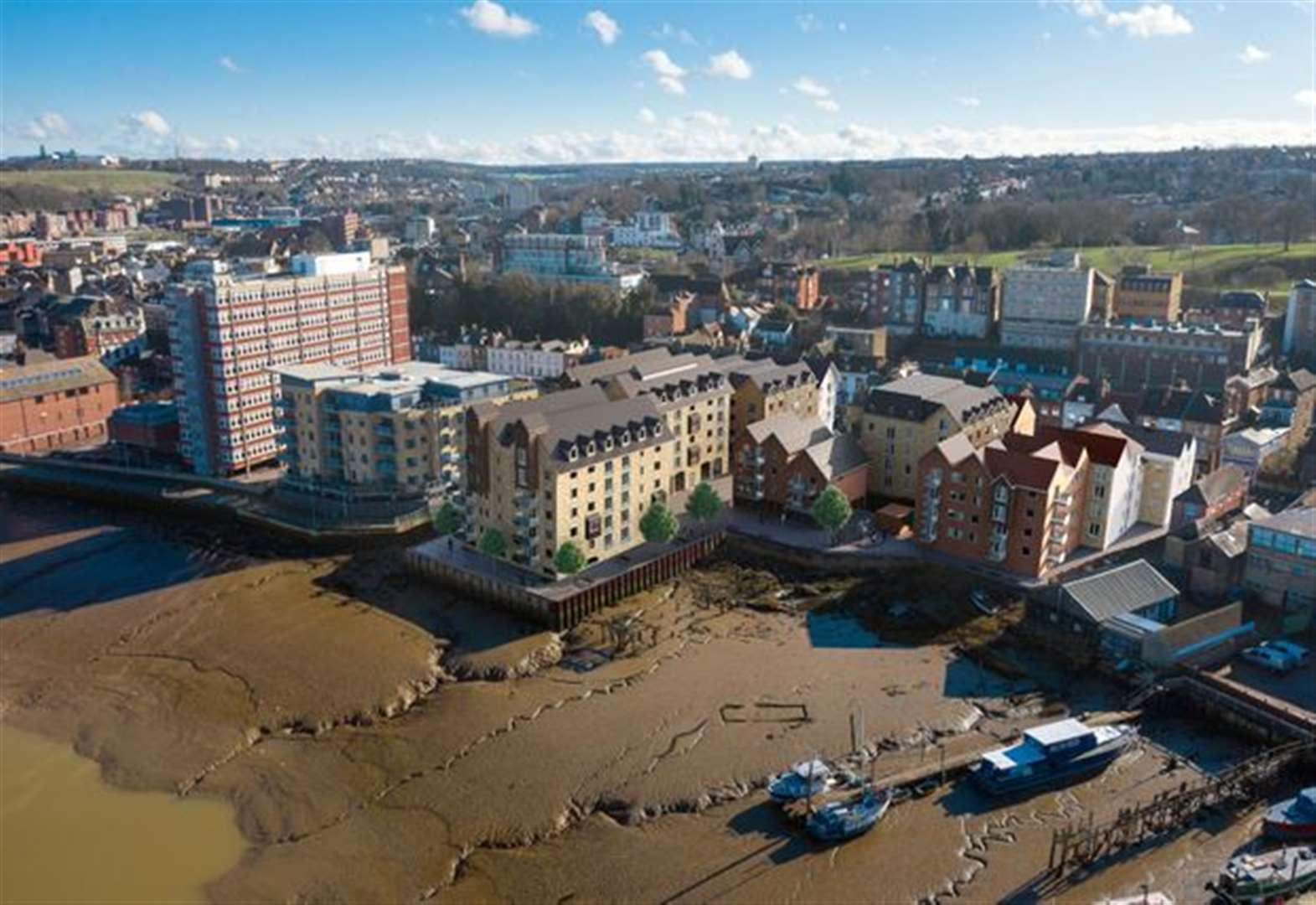 Riverside flats plan for used car plot