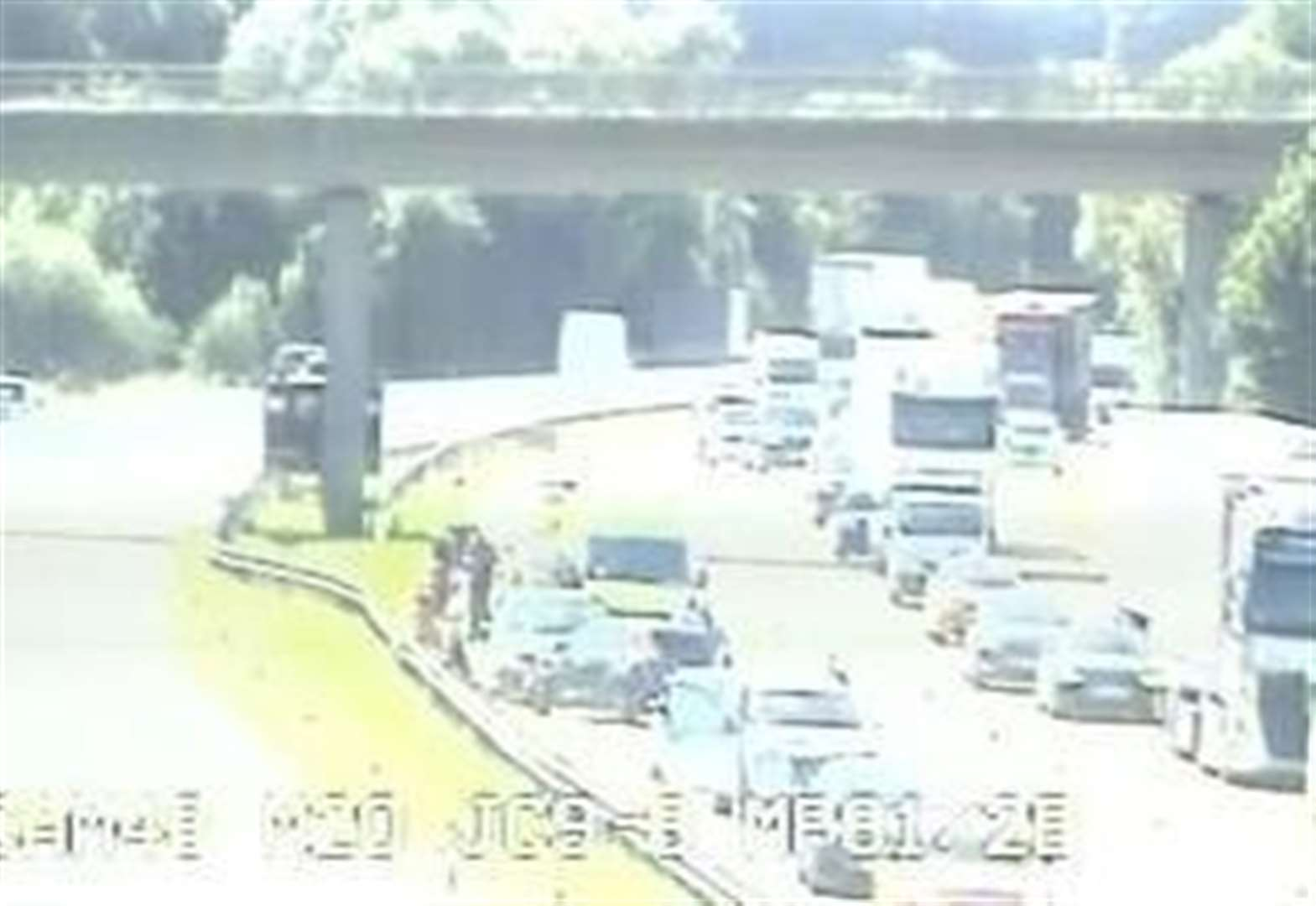 M20 closed after accident