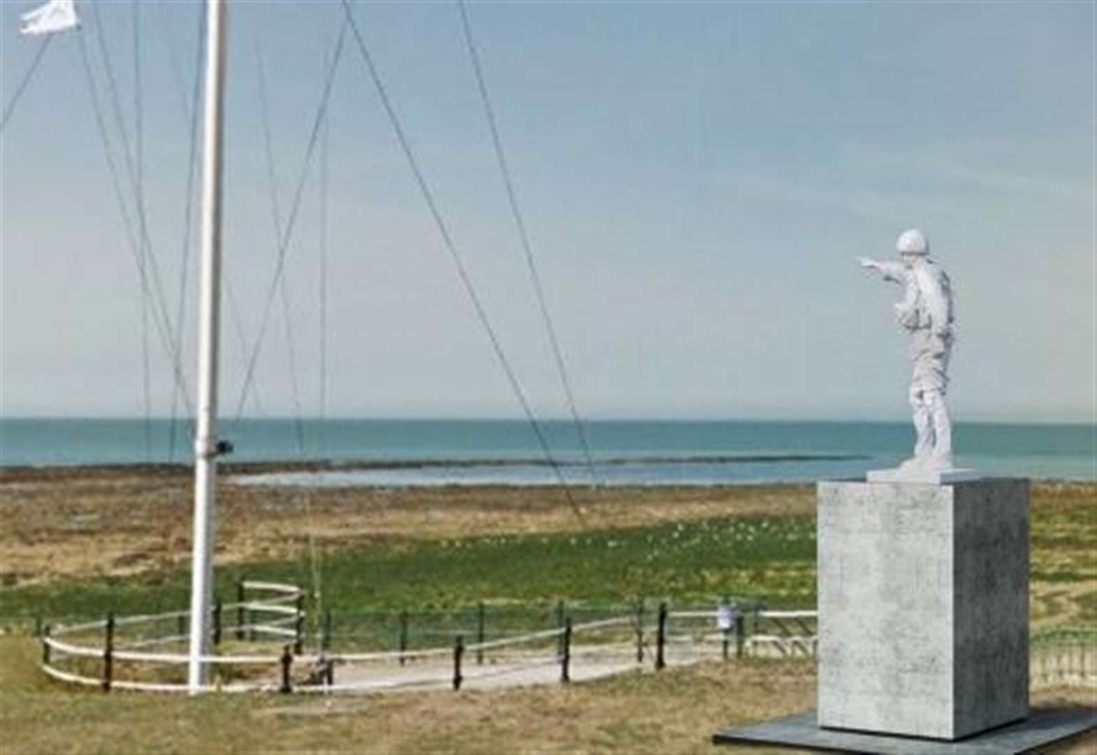 Sculpture of British soldier to be installed on seafront