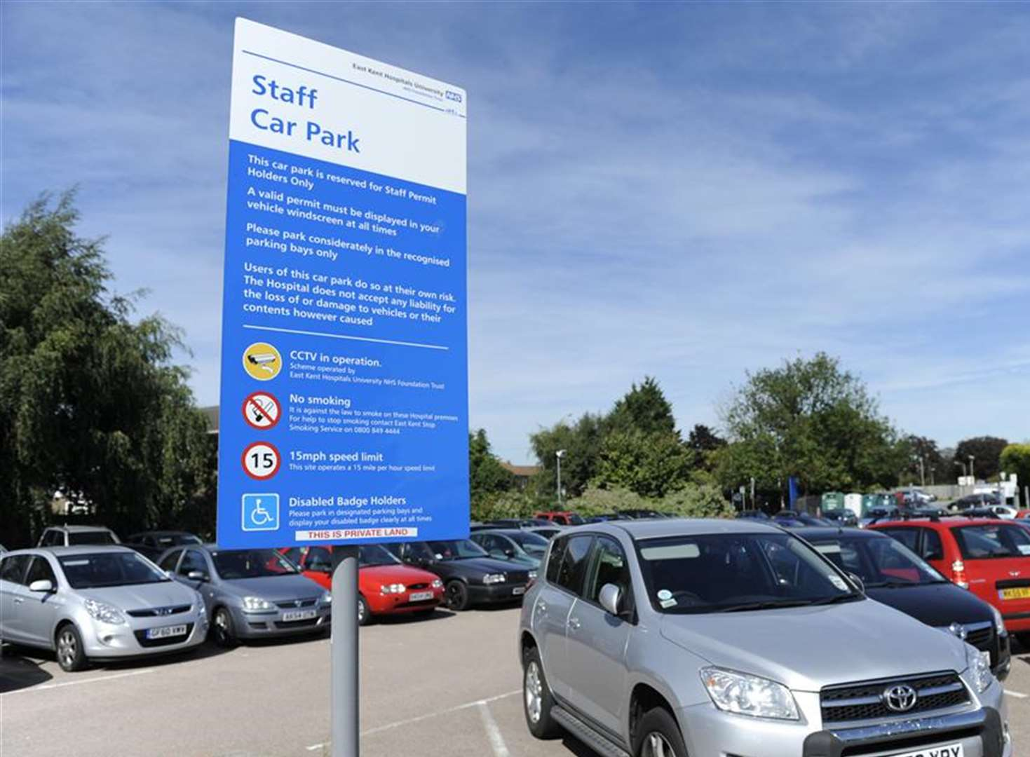 Hospital staff pay £1.5 million a year to park at work