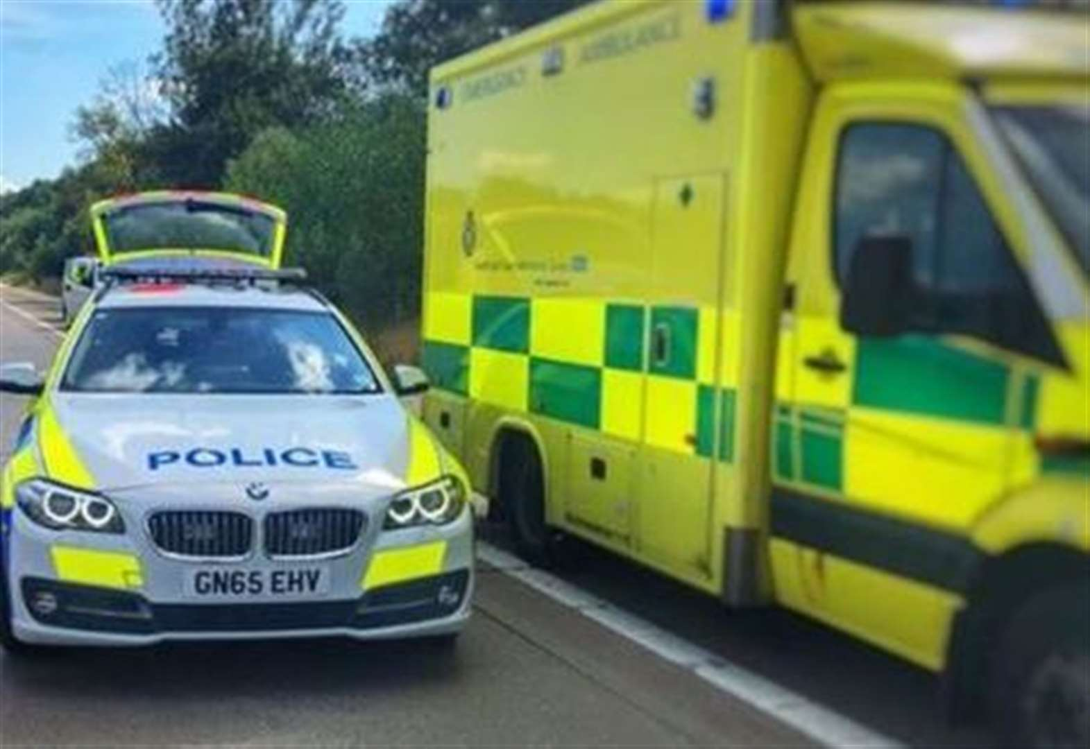 Boy taken to hospital after collision with car