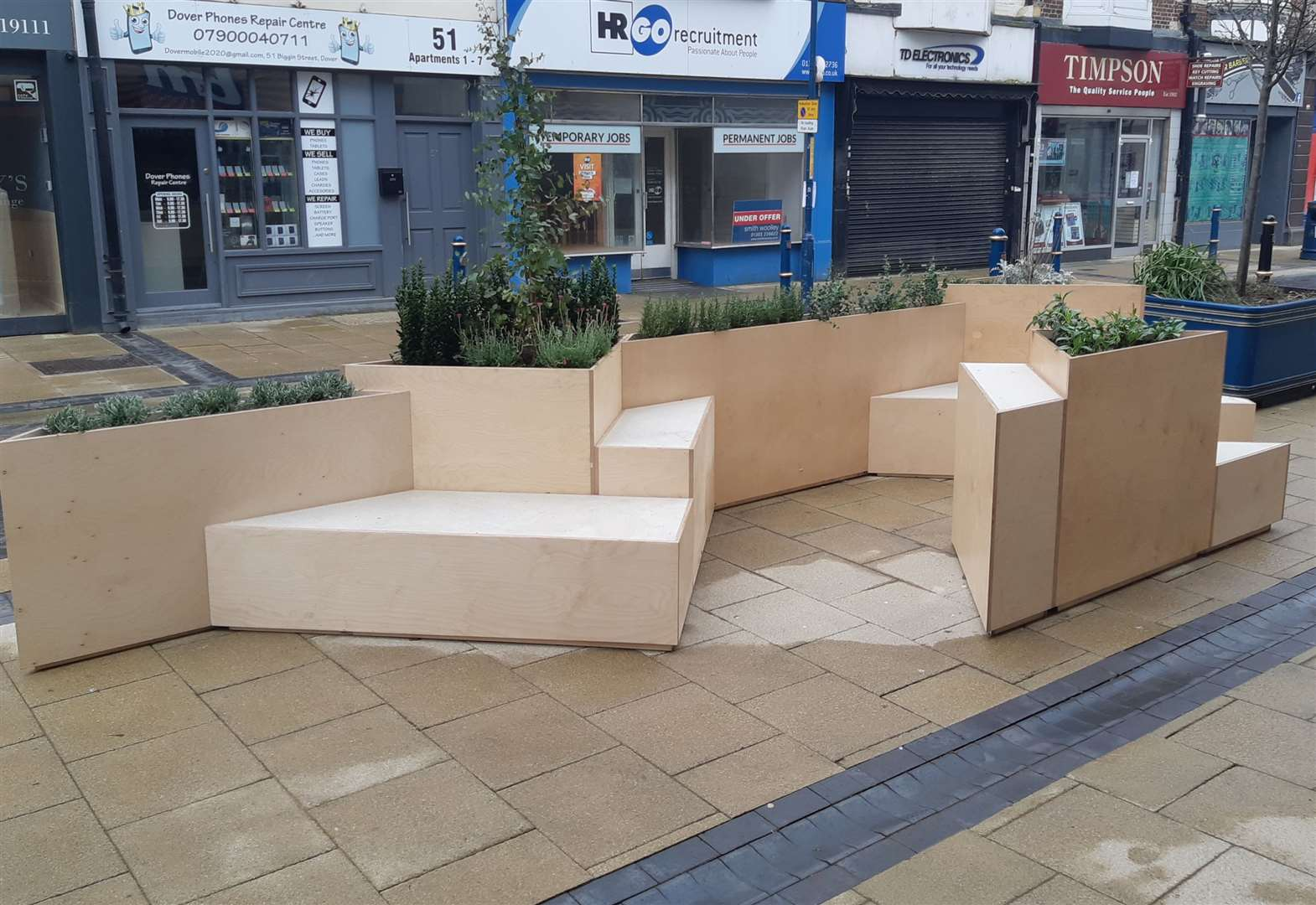 Town's new seating 'looks cheap and tacky'