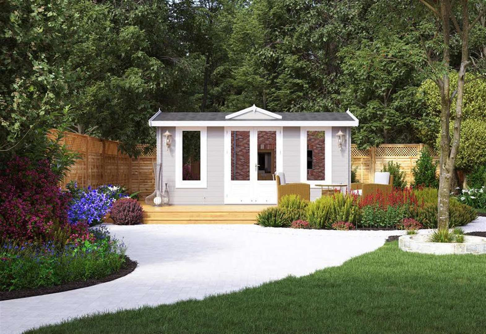 Bring the indoors outdoors with garden buildings