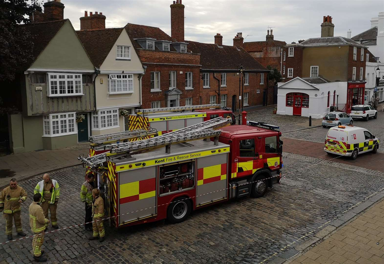 Fire crews called to town centre fuel spillage