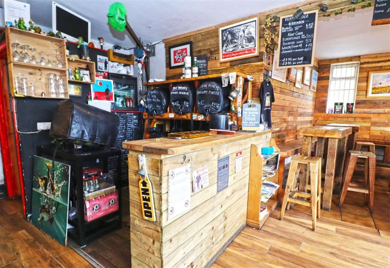 Take a look inside up-for-sale micropub