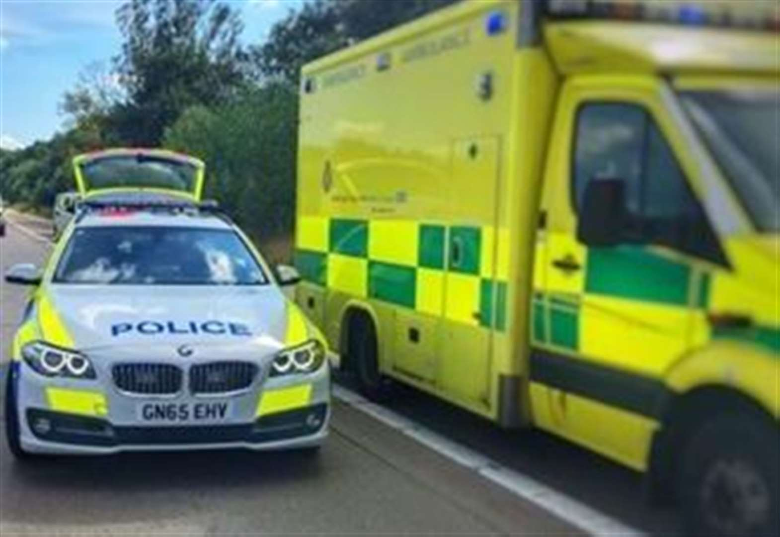 Motorcyclist suffers serious injuries in field crash