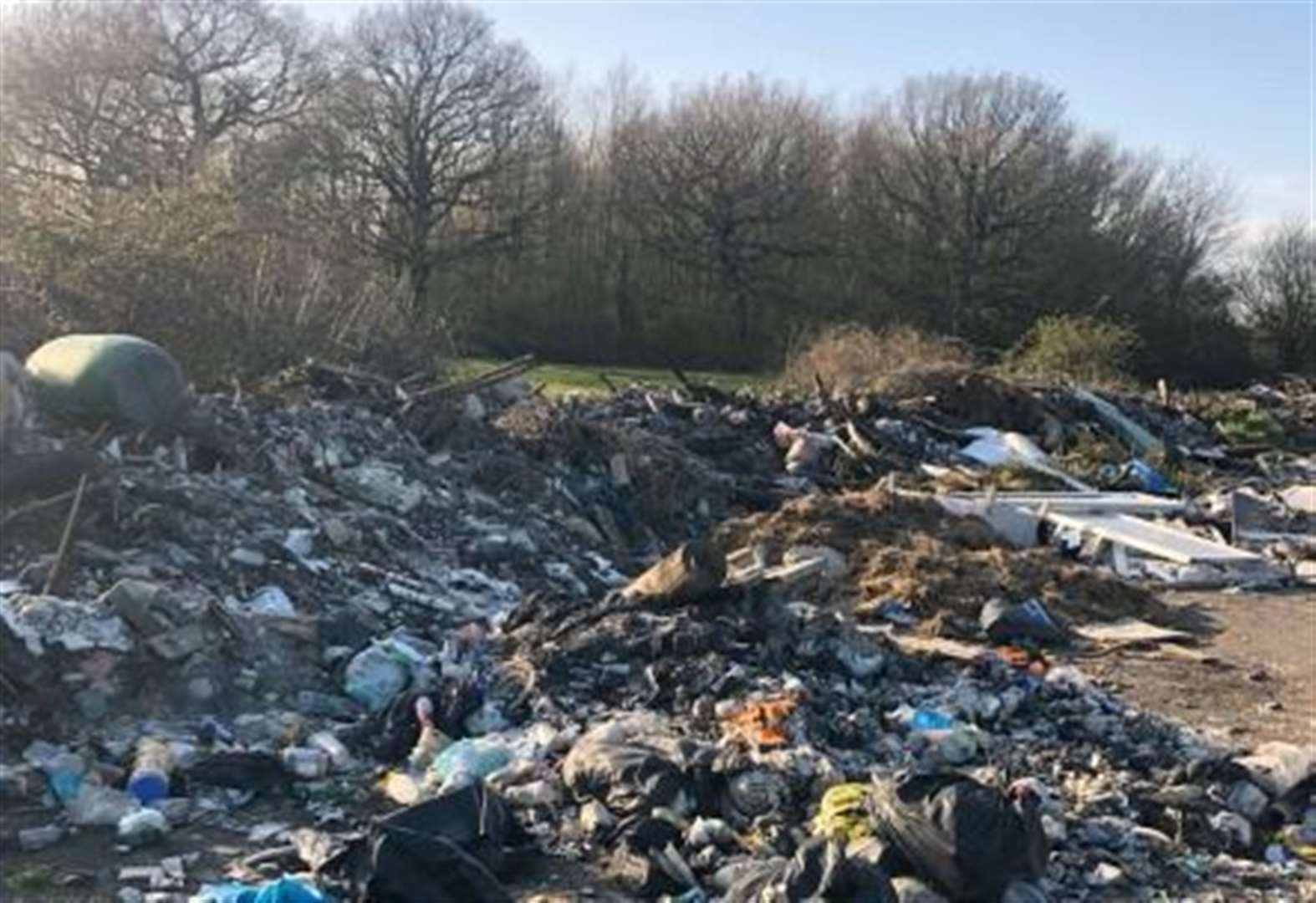 Fly-tipping clean up delayed due to 'nesting birds'