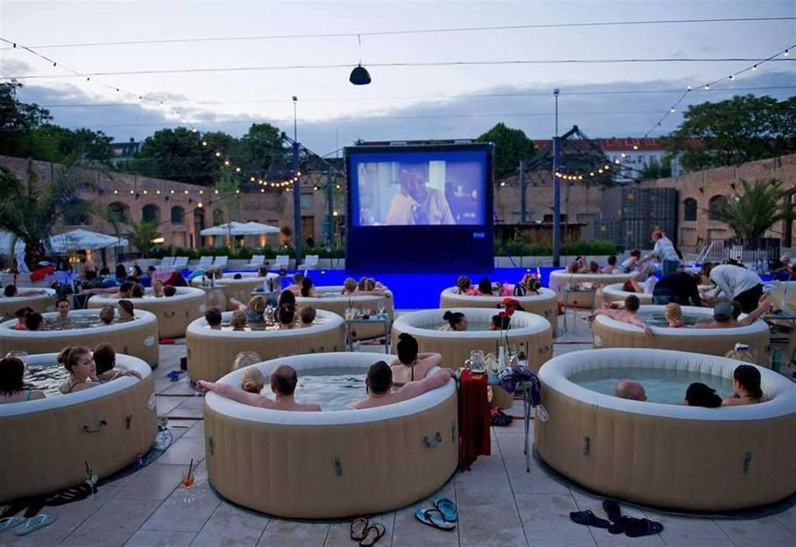 Want to dive in to a hot tub cinema showing?