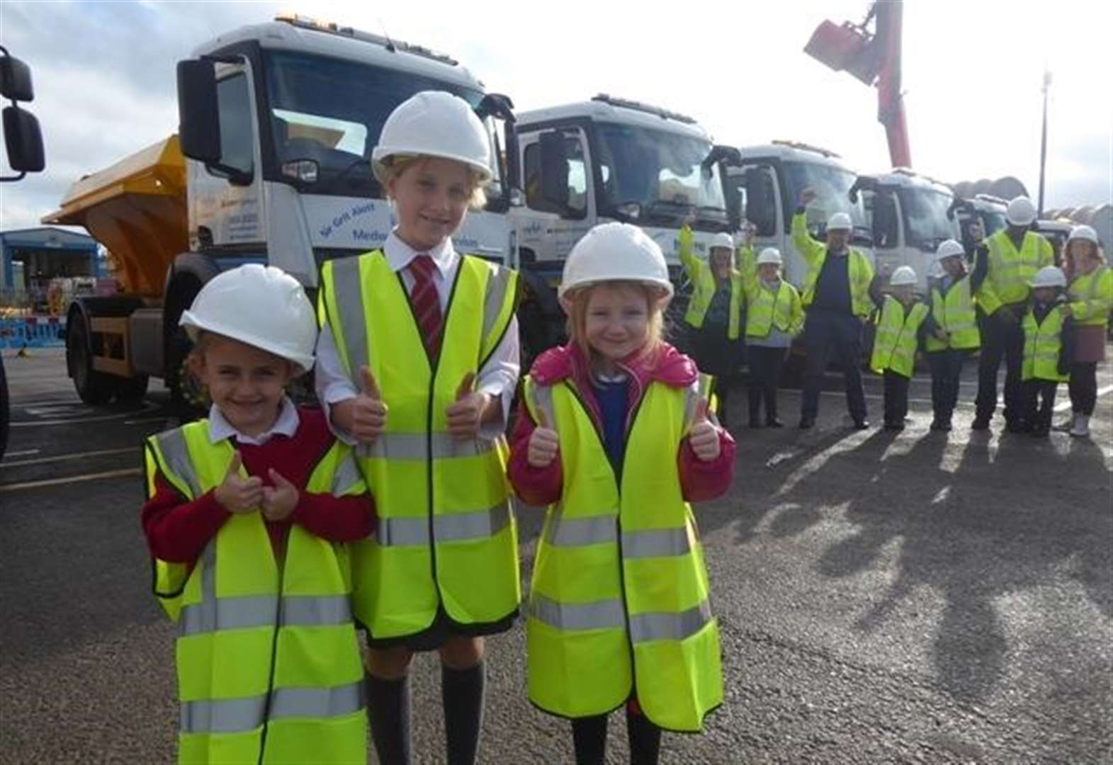 Primary pupils rise to gritter challenge