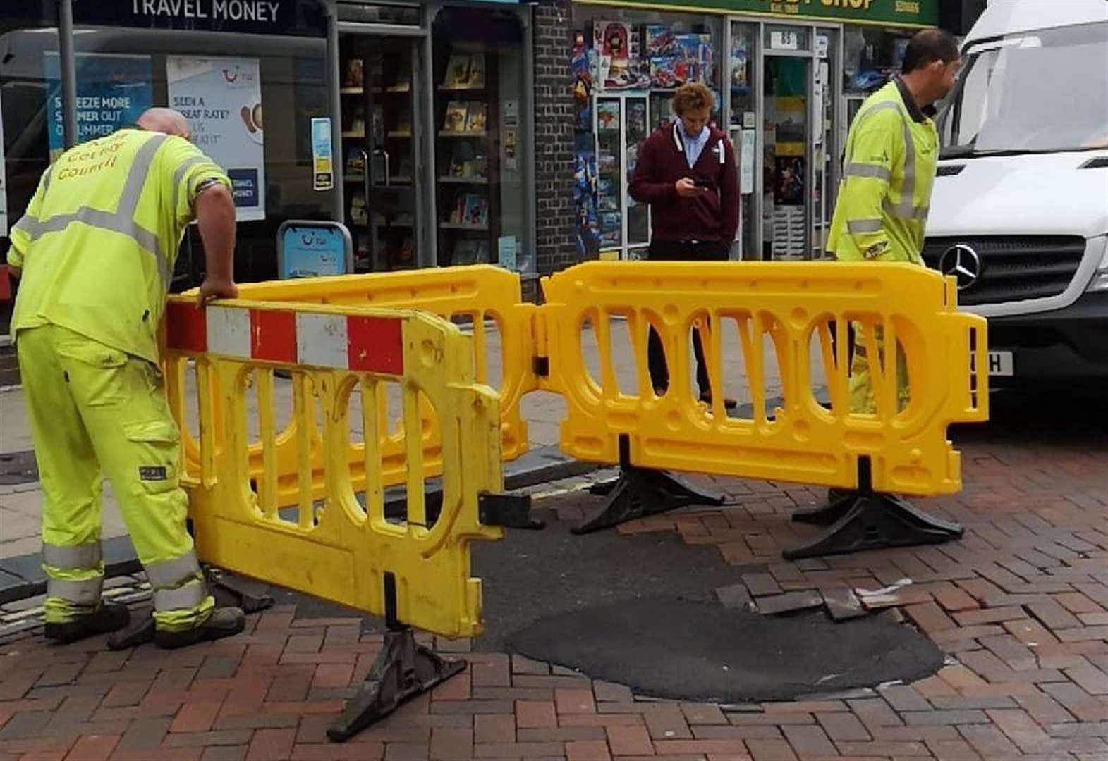 Sewer collapse shuts roads